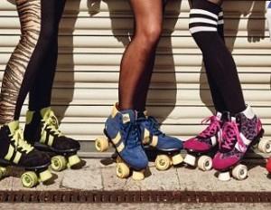 patines de cuatro ruedas o quad